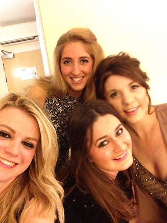 Girls ready for New Years Eve in Cheltenham