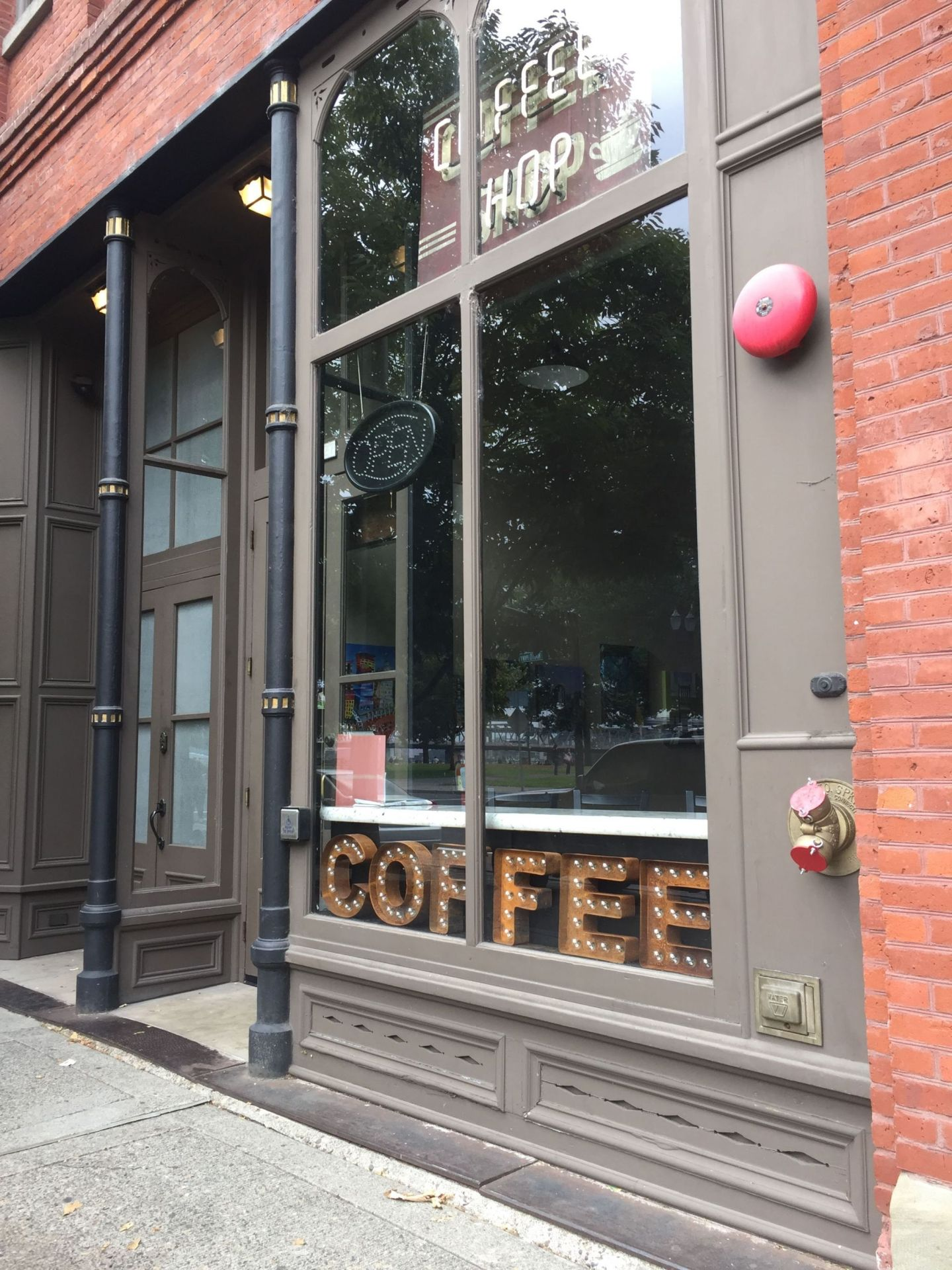 Hipster coffee shop in Portland