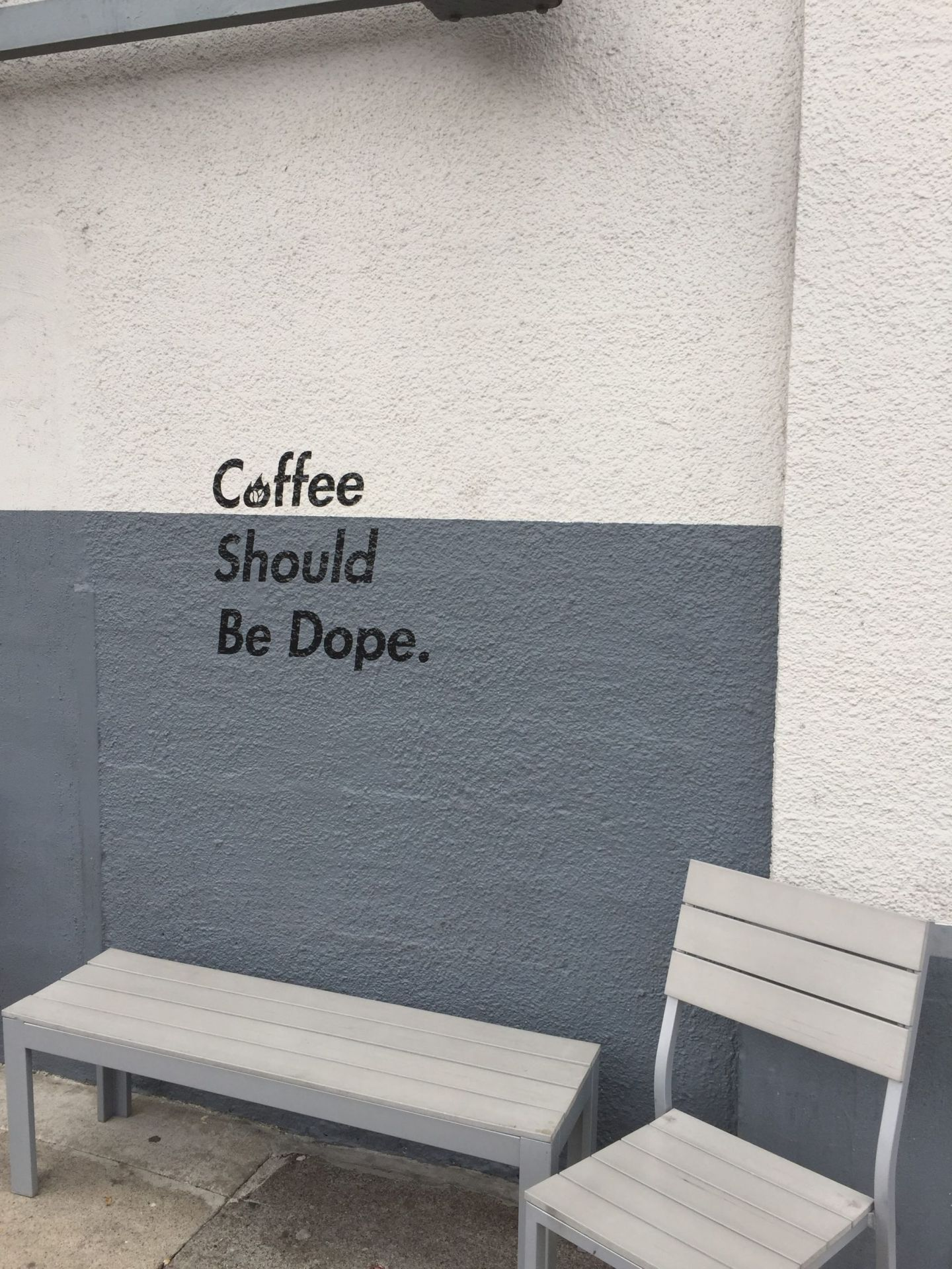 Coffee should be dope mural, Portland