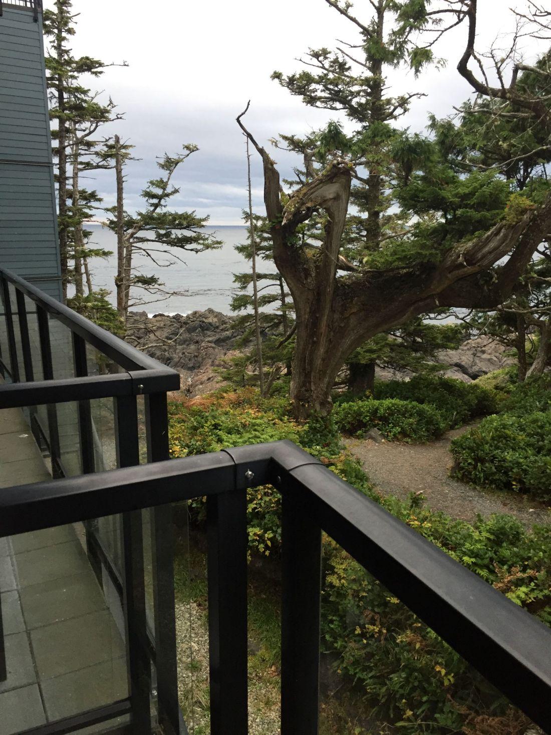Balcony at Black Rock Oceanfront Resort in Ucluelet, Vancouver Island