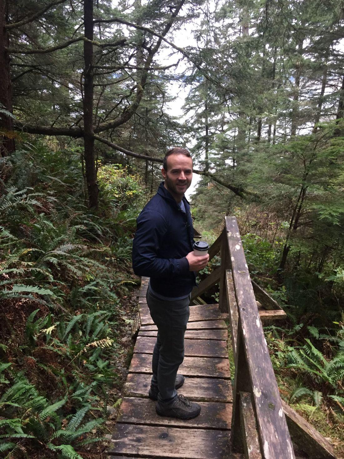 Walking to Half Moon Bay, Vancouver Island