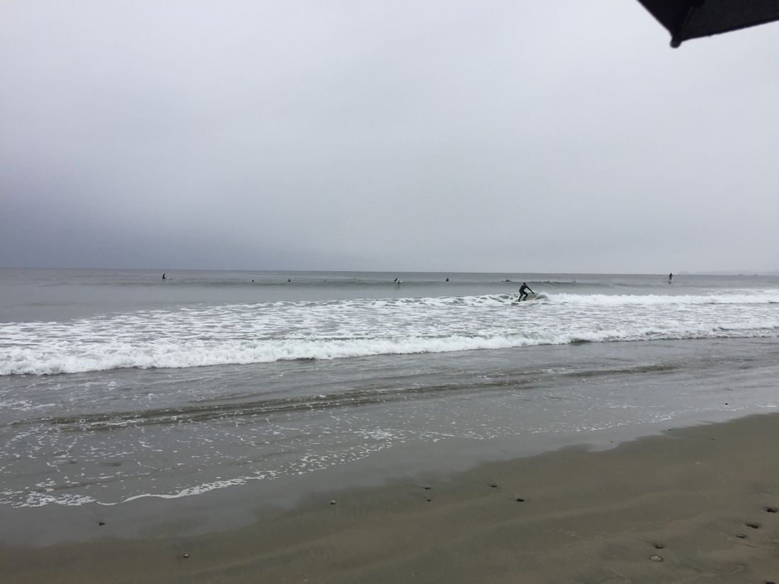 Surfers on Long Beach, Pacific Rim National Park