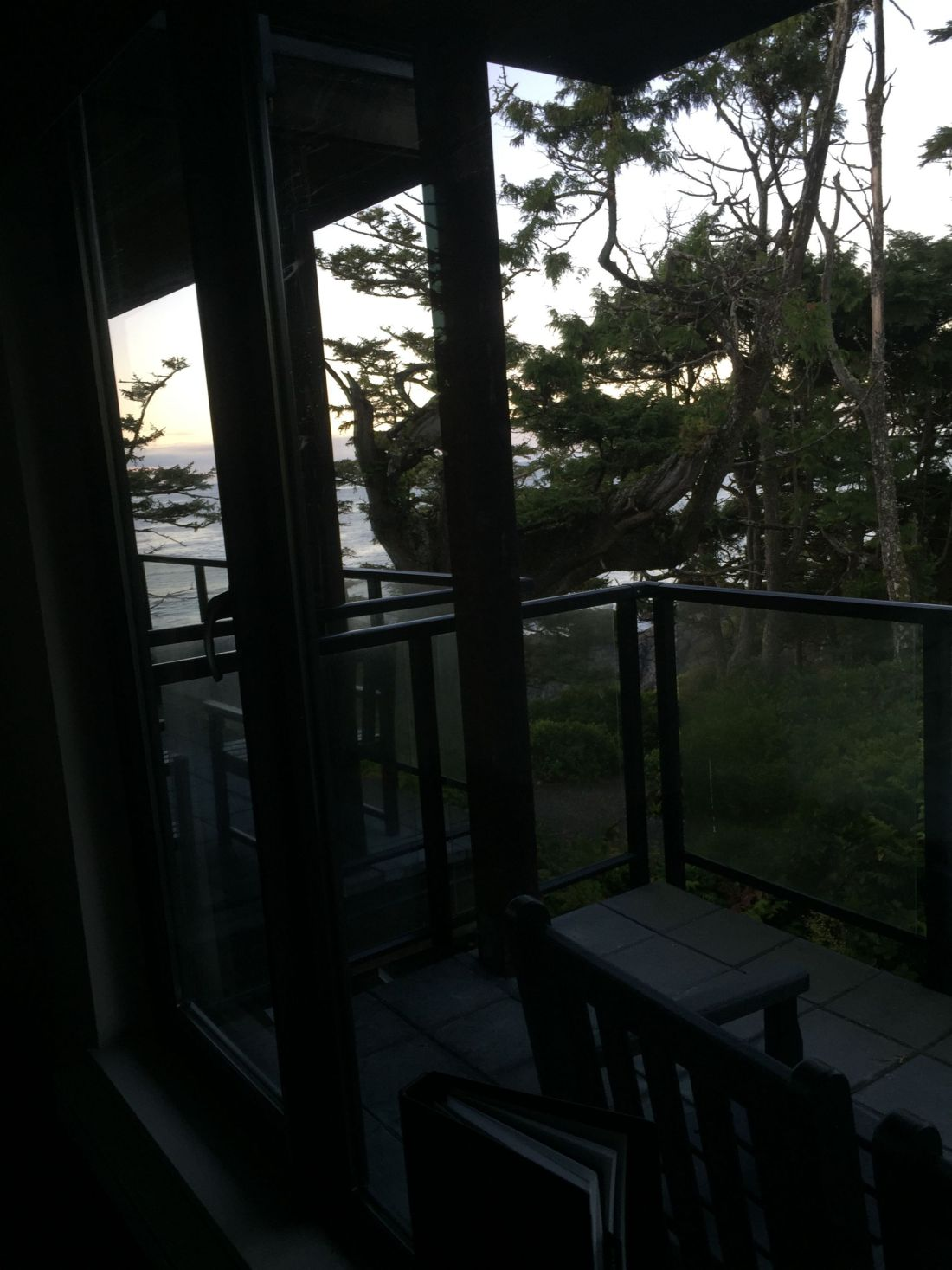 View from the balcony to the ocean from Black Rock Resort, Ucluelet