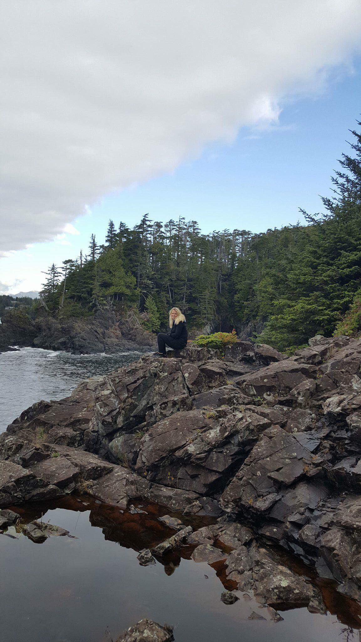 Laura on the Wild Pacific Trail, Vancouver Island