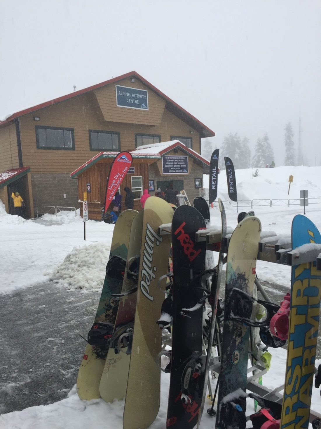 Snowboards on Mount Seymour, Vancouver