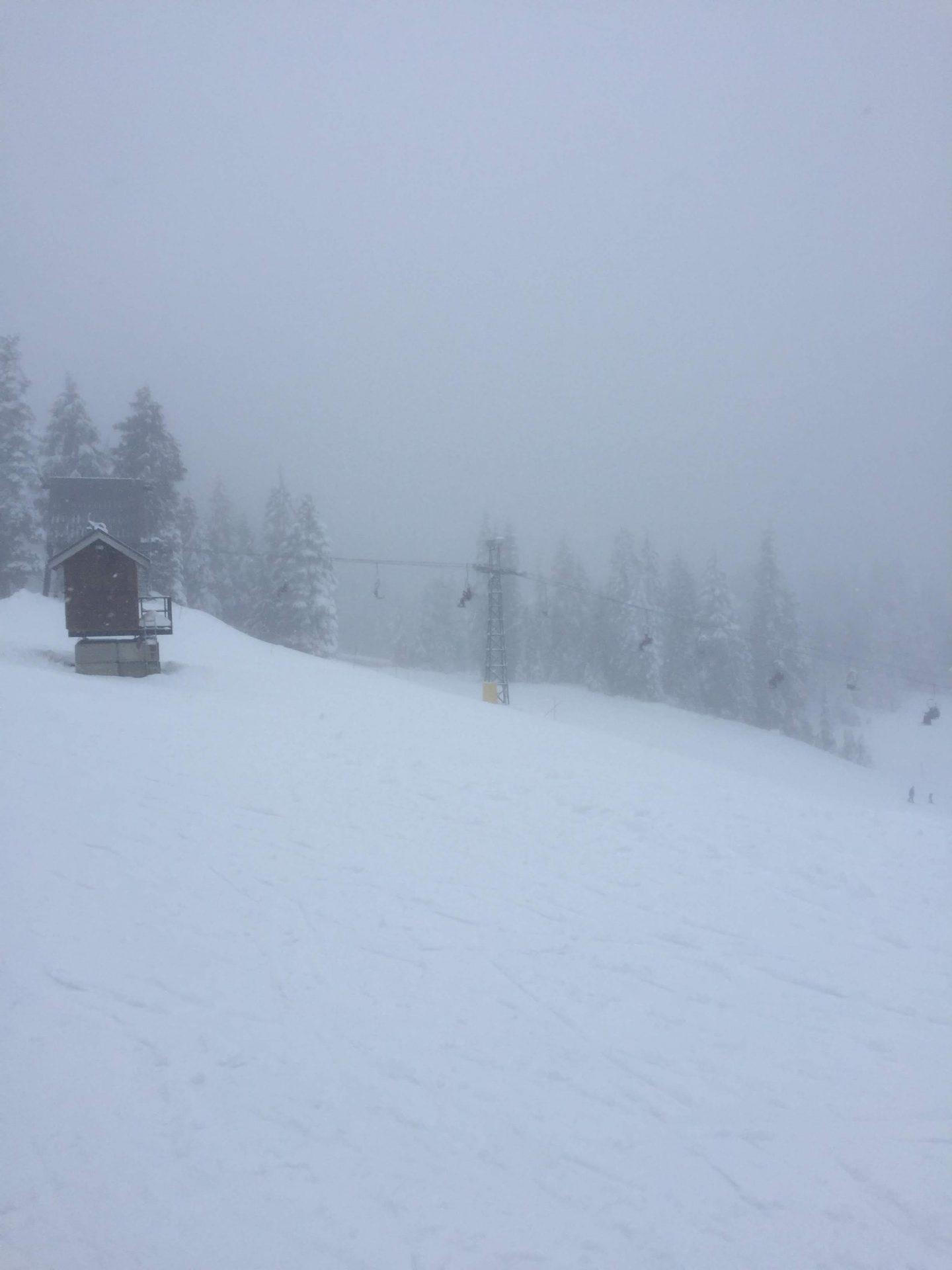 Ski lifts on Mount Seymour, Vancouver