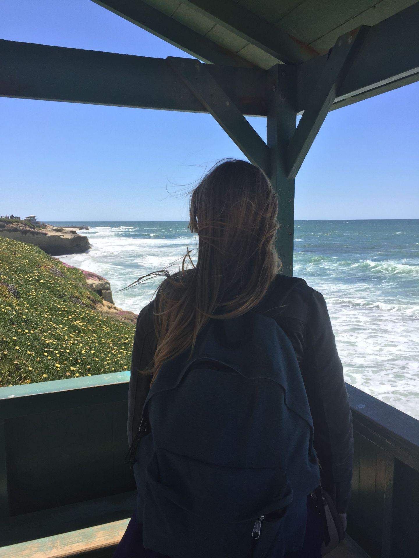 Enjoying the views at La Jolla, San Diego