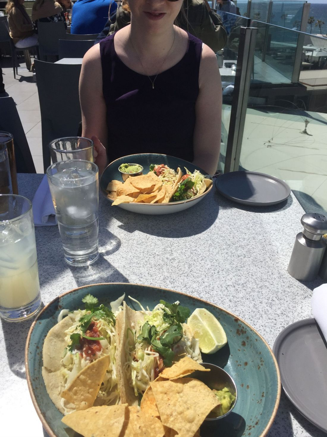 Fish tacos with a view at George's at the Cove, San Diego