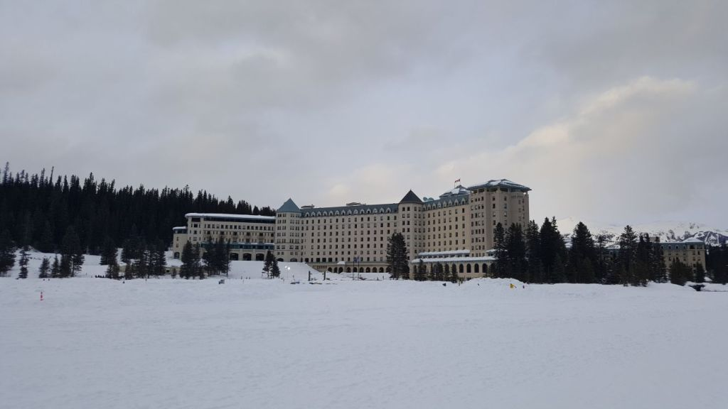 The beautiful Fairmont Chateau Lake Louise