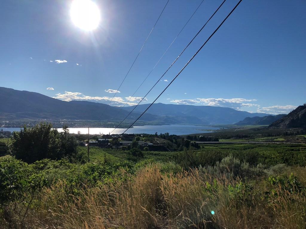 The sun shines across Osoyoos, Okanagan Valley