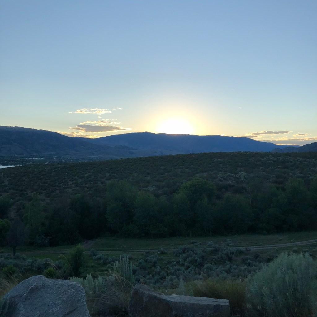 Sunset over the Osoyoos desert