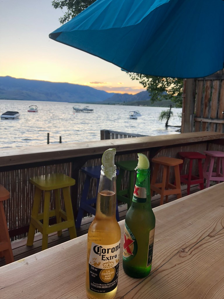 Beers at Spirit Beach Cantina, Osoyoos