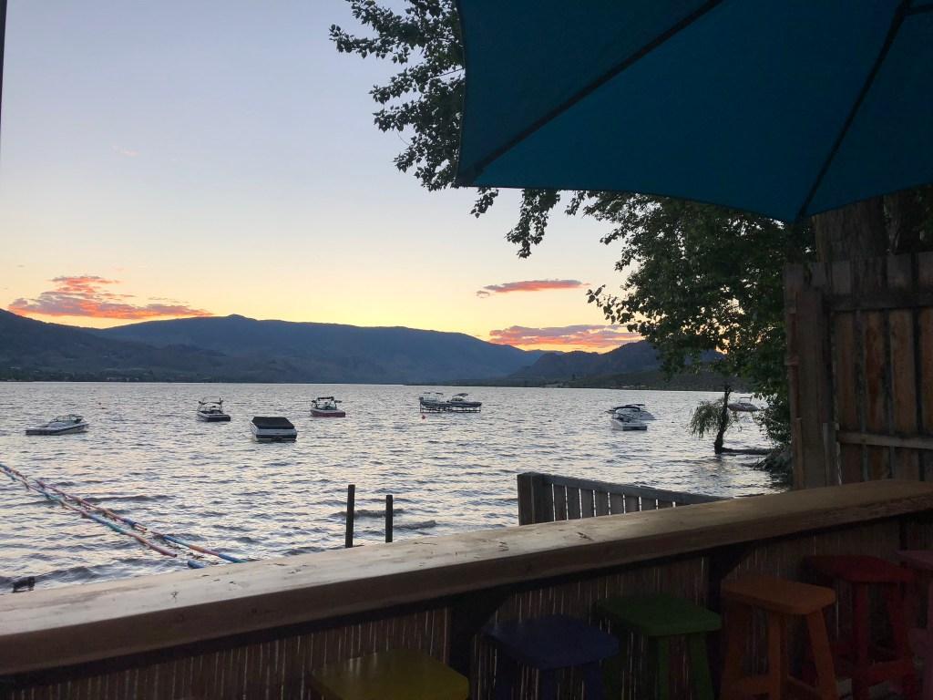 A beautiful sunset over Lake Osoyoos, Okanagan Valley