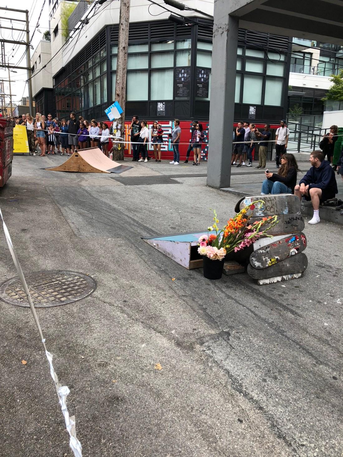Skateboarders at Vancouver Mural Festival