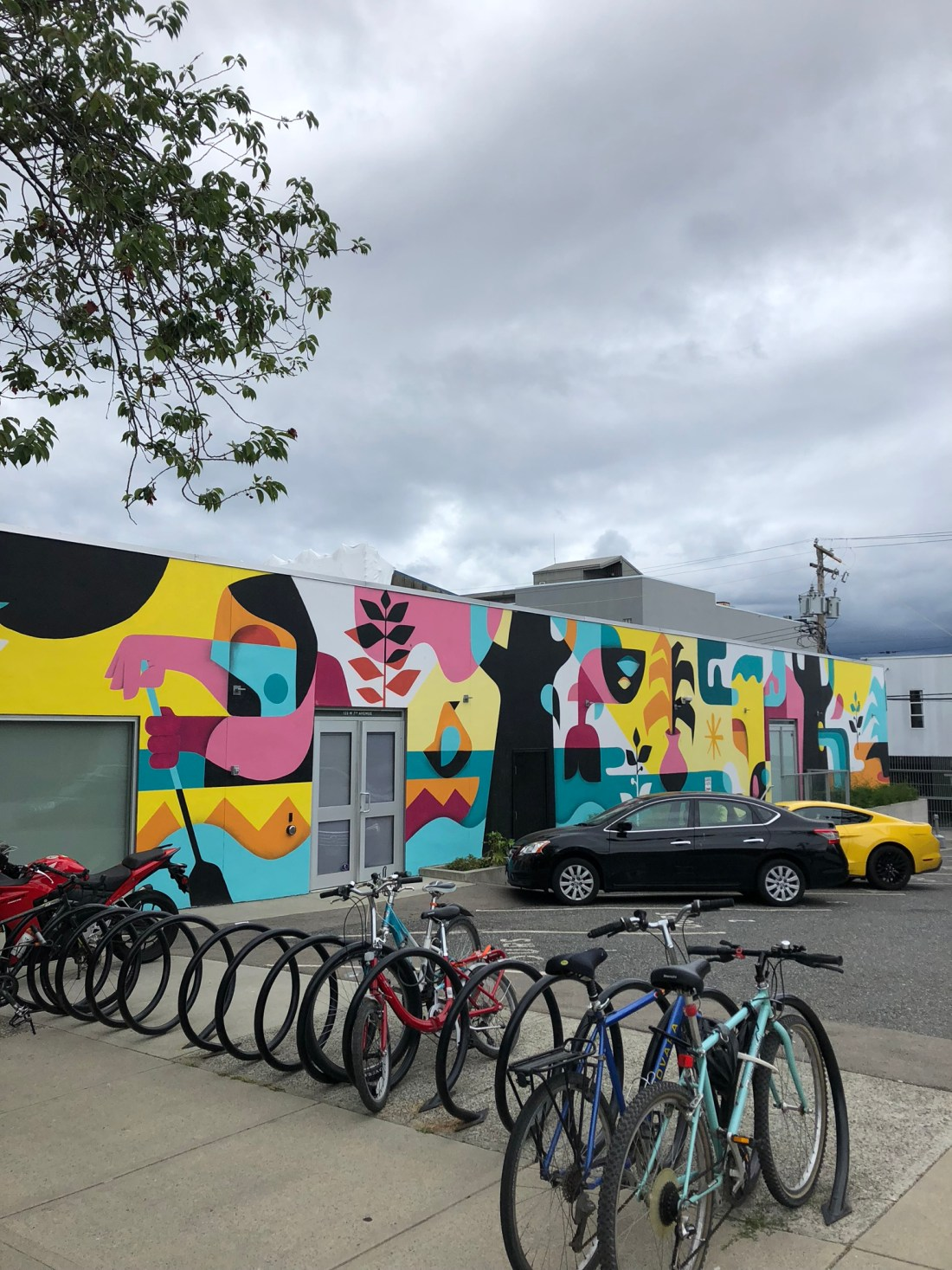 Orla Kiely mural in Mount Pleasant