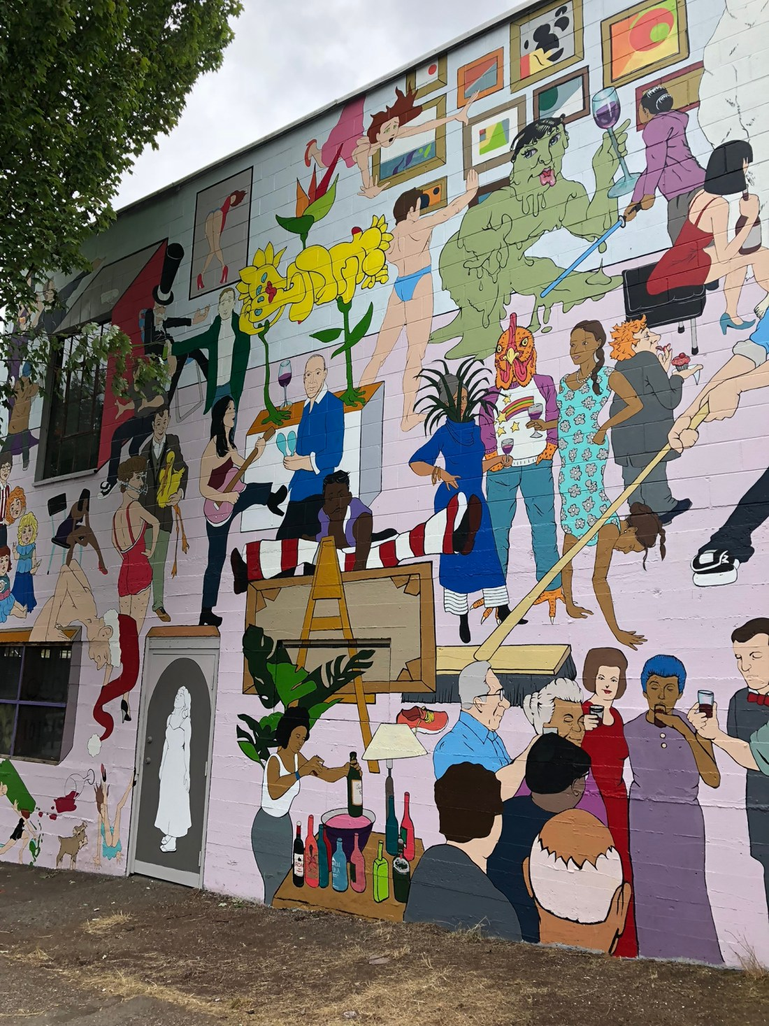 Character mural in Vancouver