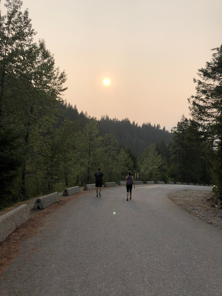 Smoke from the BC forest fires across the sun