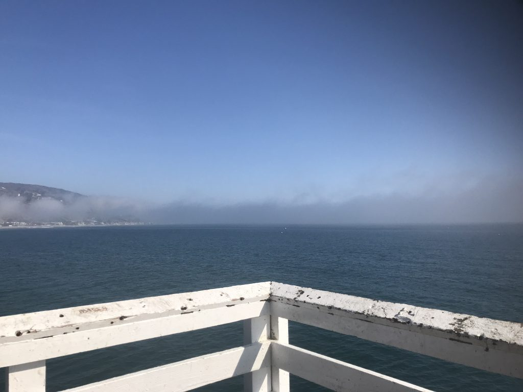 Views across Malibu from the pier