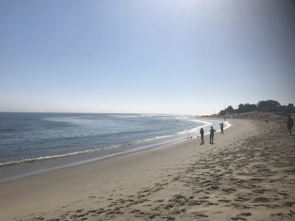 The beach on Malibu, California