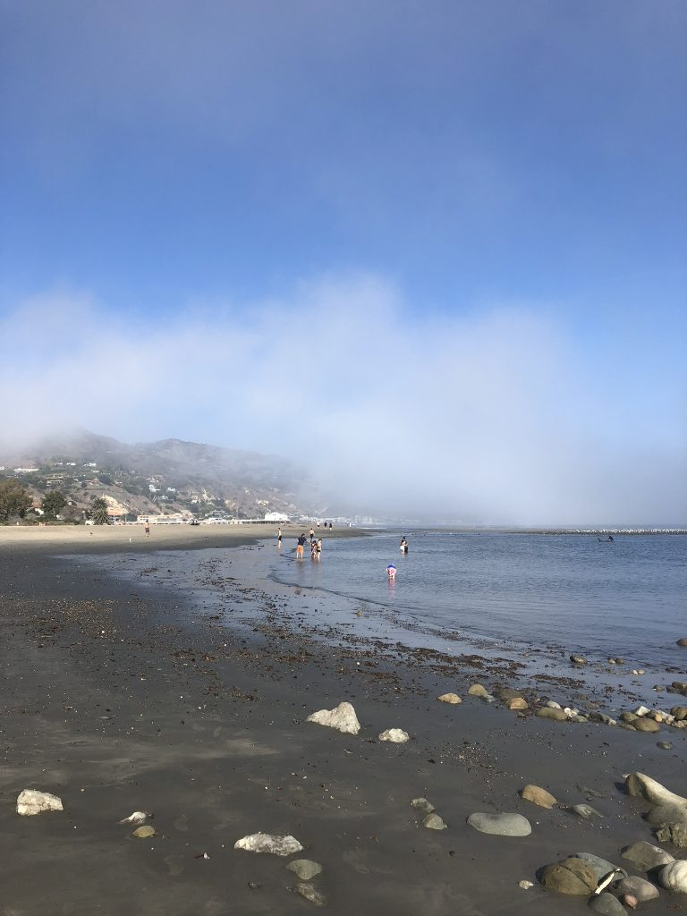 Misty views across Malibu, Los Angeles