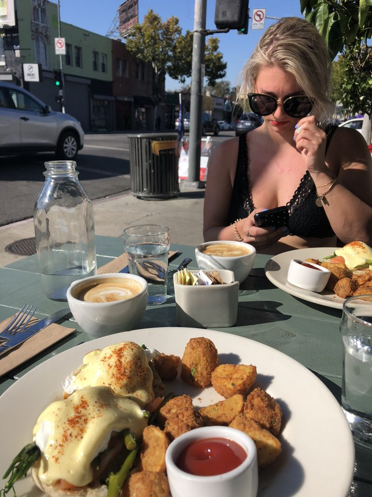 Brunch on Melrose Avenue, LA