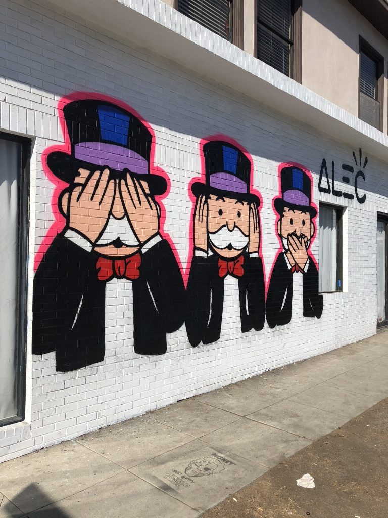 Monopoly Man mural on Melrose Avenue, LA