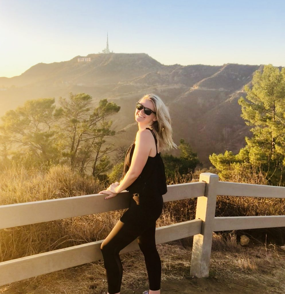 Laura on a hike to the Hollywood sign, LA