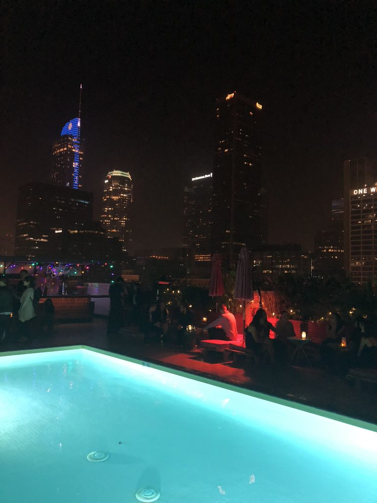 Rooftop bar and pool at Broken Shaker, Los Angeles