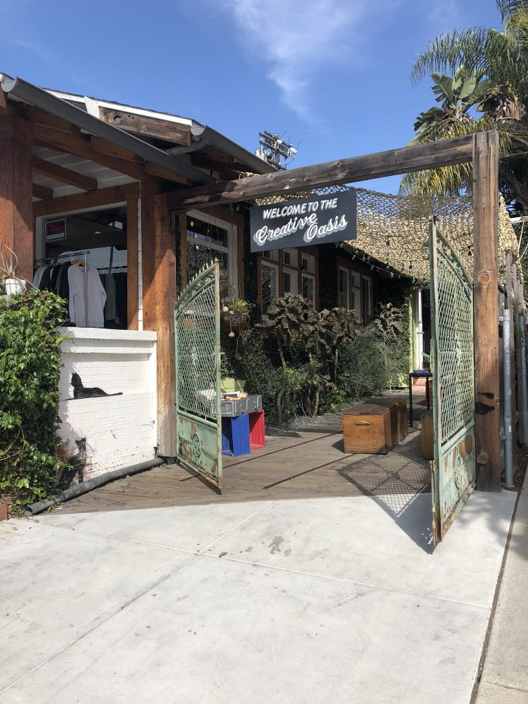 Creative boutique stores on Abbot Kinney Boulevard, LA