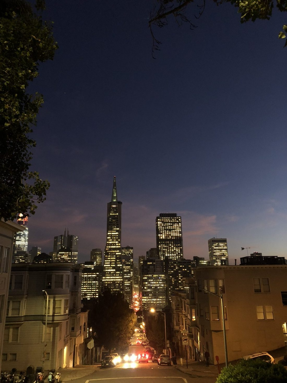 San Francisco skyline by night