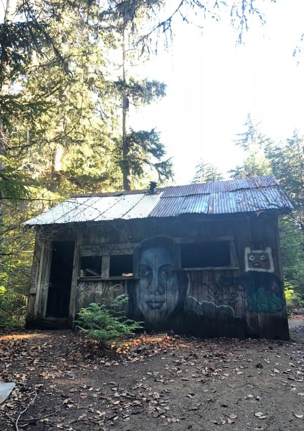 Abandoned house in Parkhurst ghost town, Whistler