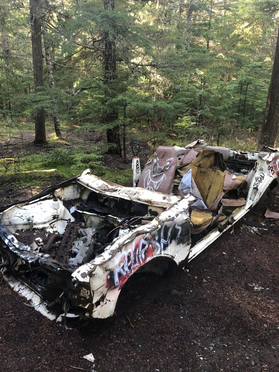 Abandoned car in Parkhurst ghost town near Whistler, BC