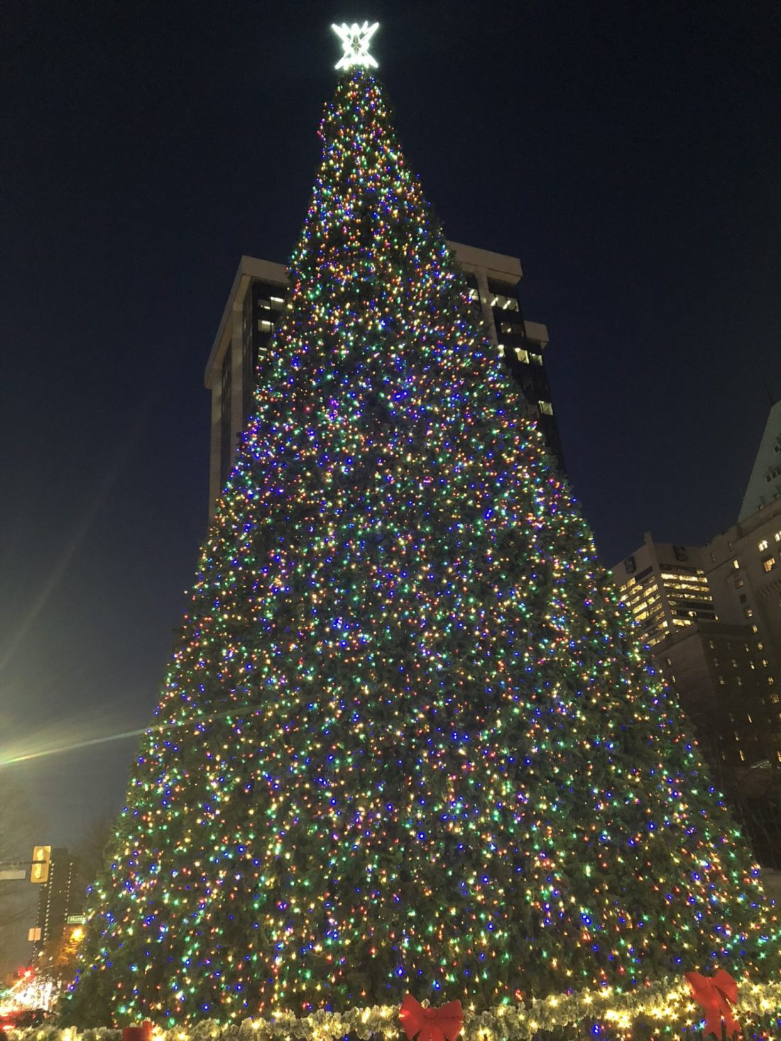 Christmas tree for 2018 in Vancouver