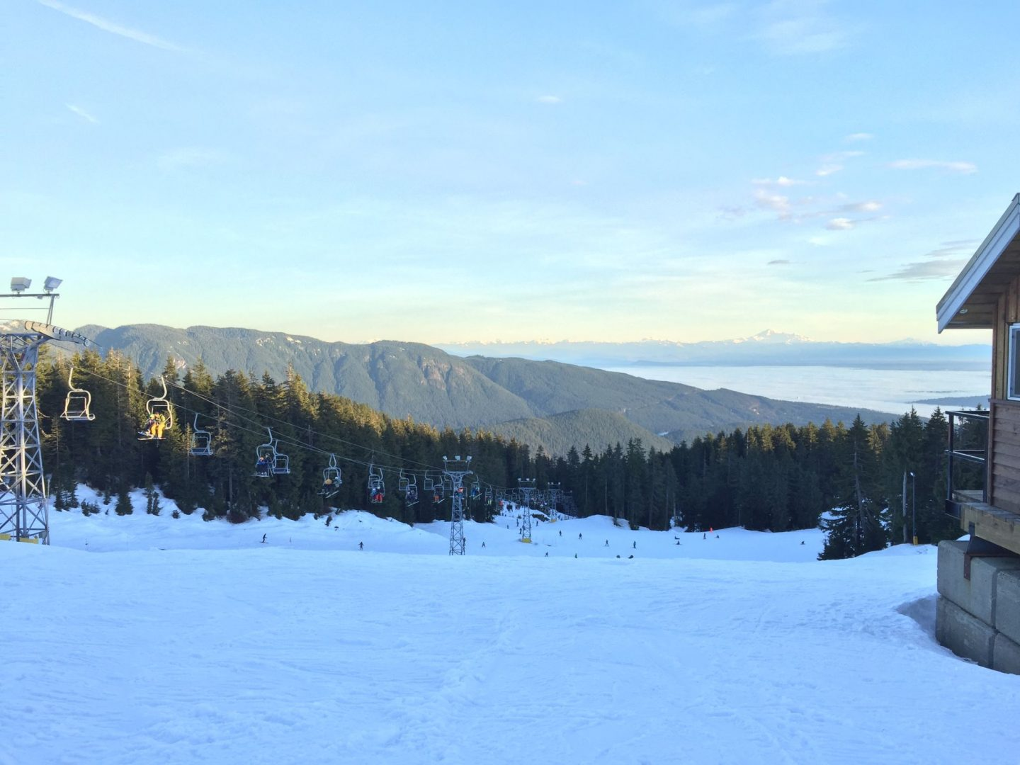 Skiing on Mount Seymour, Vancouver