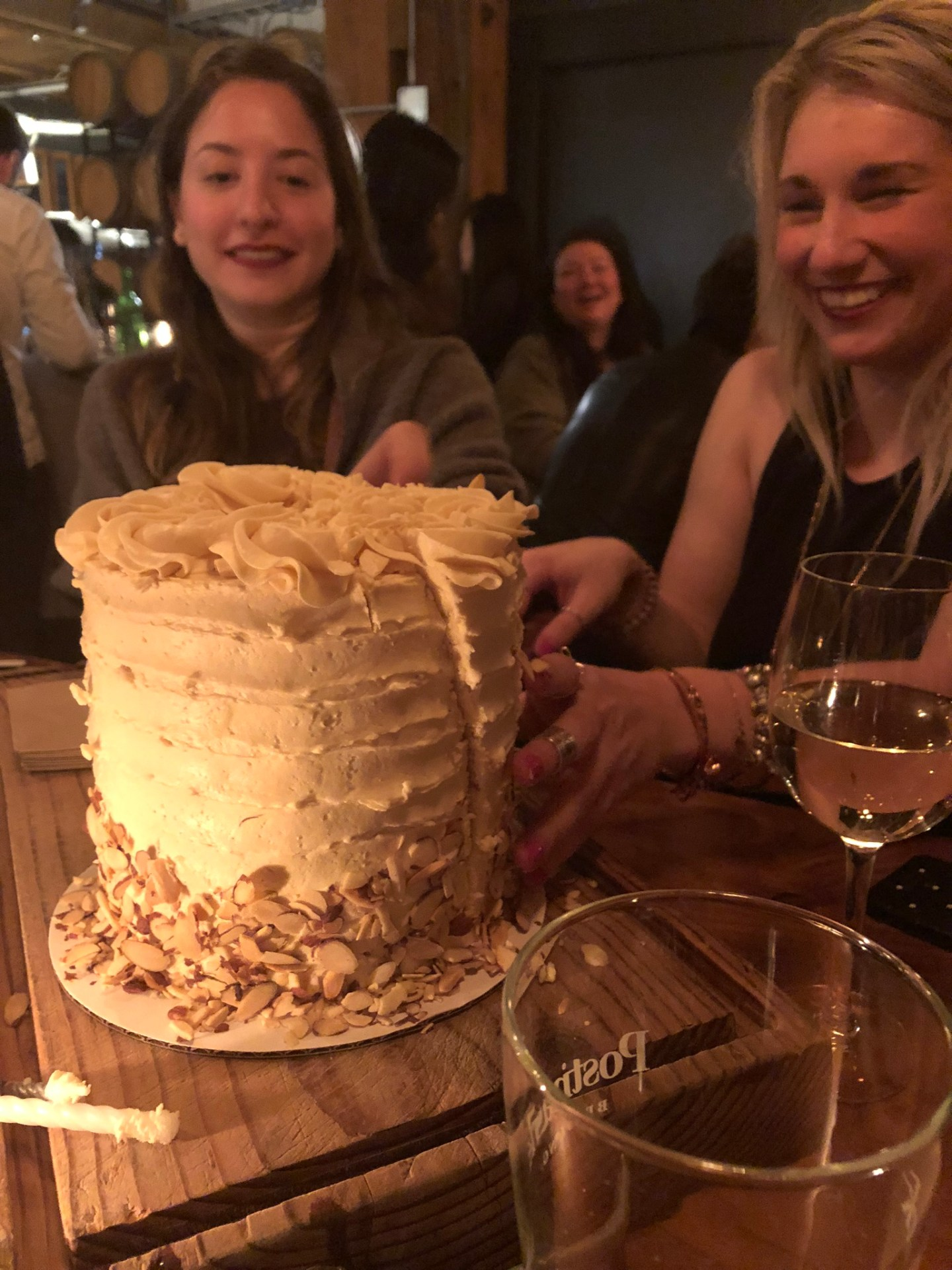 Birthday cake at Belgard Kitchen, Vancouver