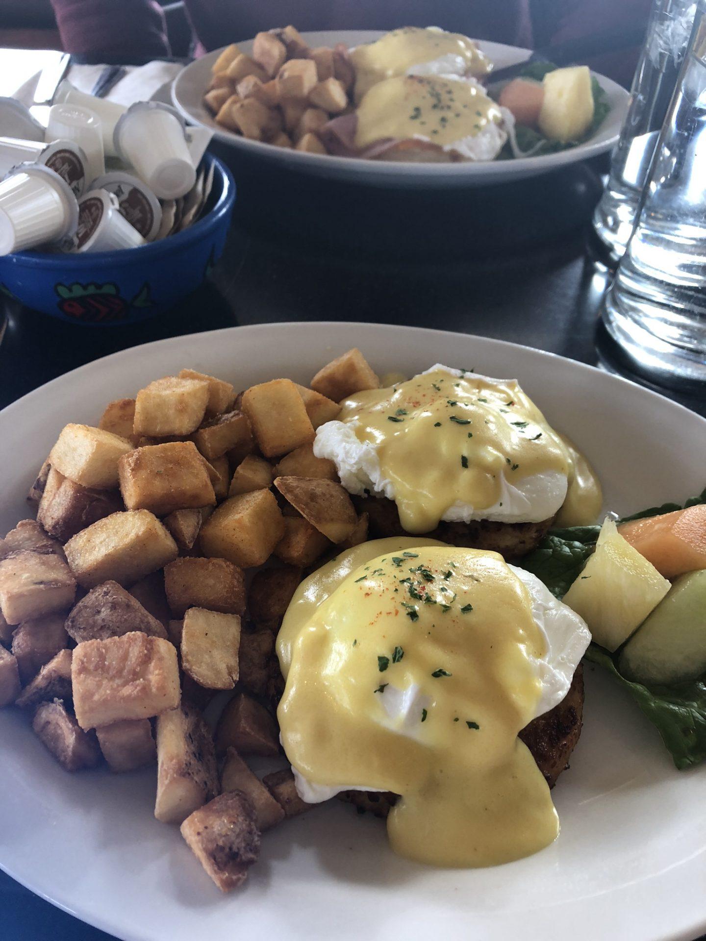 Eggs benedict from Pier Bistro, Sidney