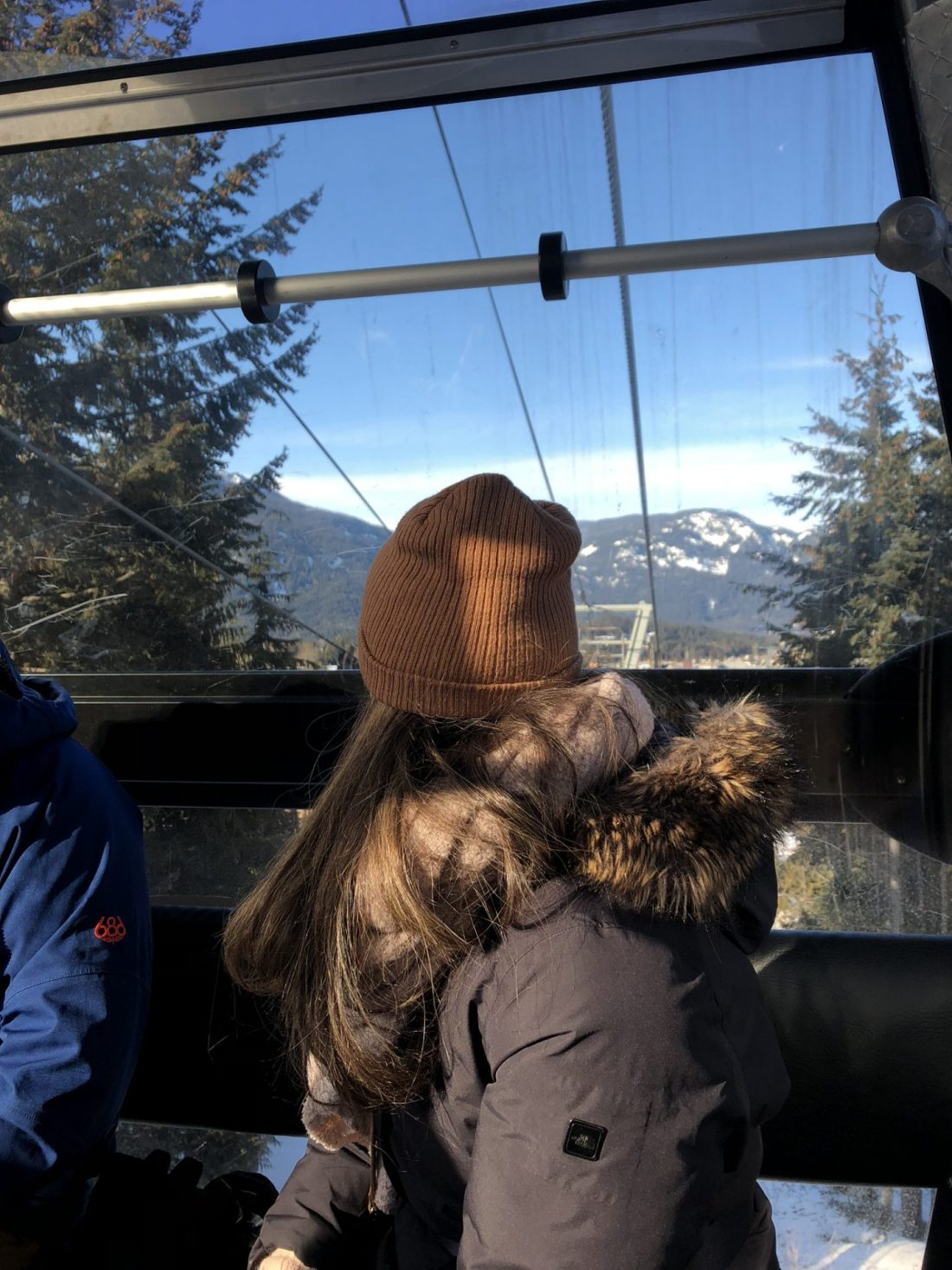 Views from the ski lift up to Whistler