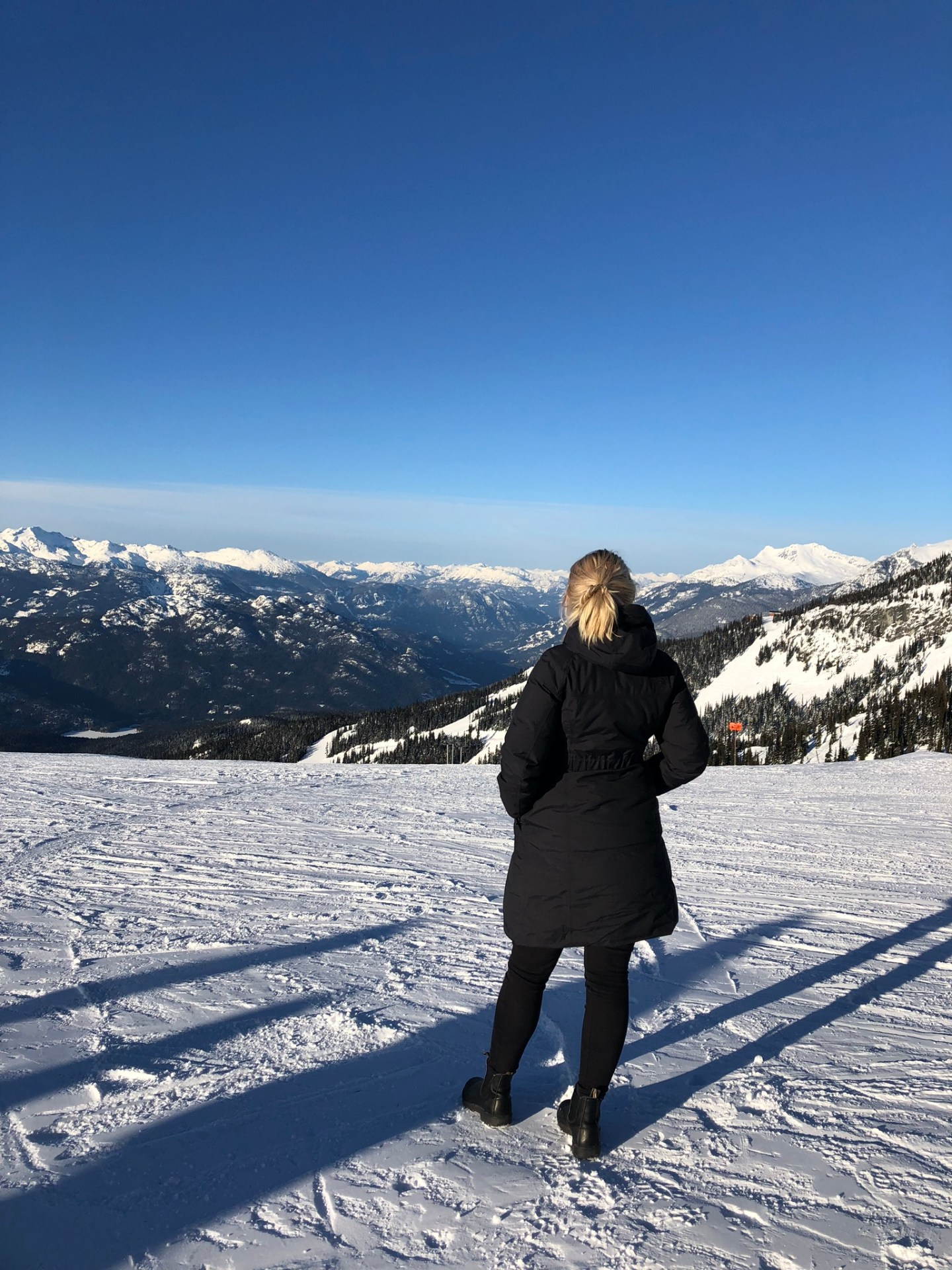 Views from the chairlift up to Whistler, British Columbia