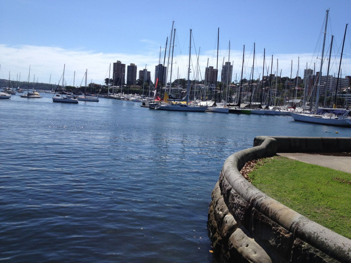 Harbour views at Rushcutters Bay, Sydney
