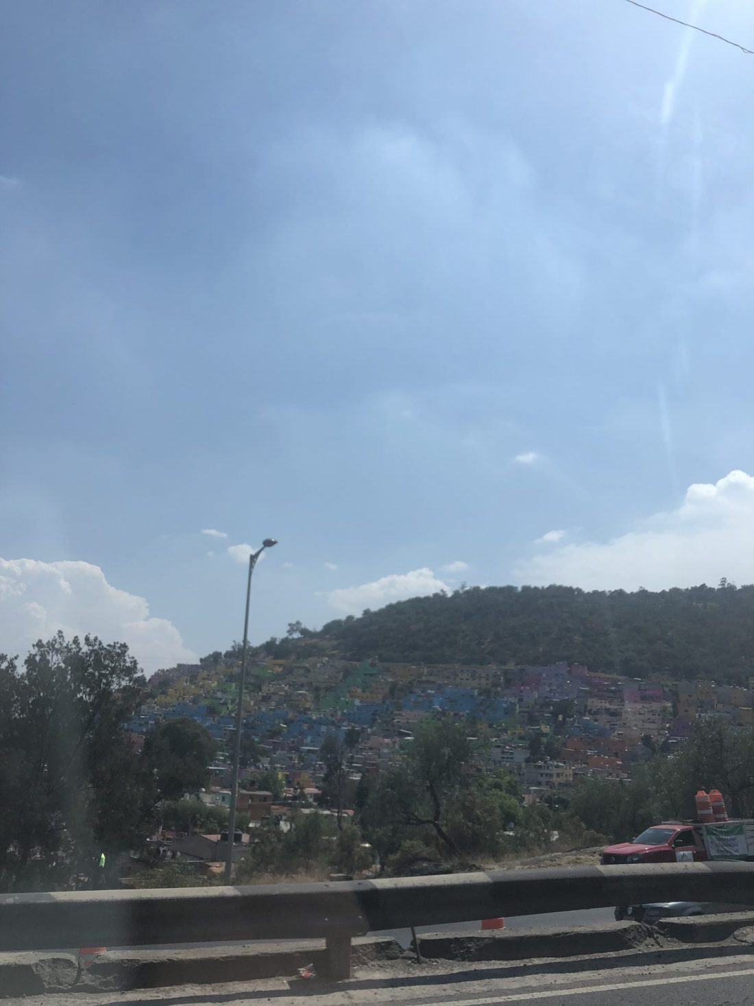 The drive back from Teotihuacan to Mexico City