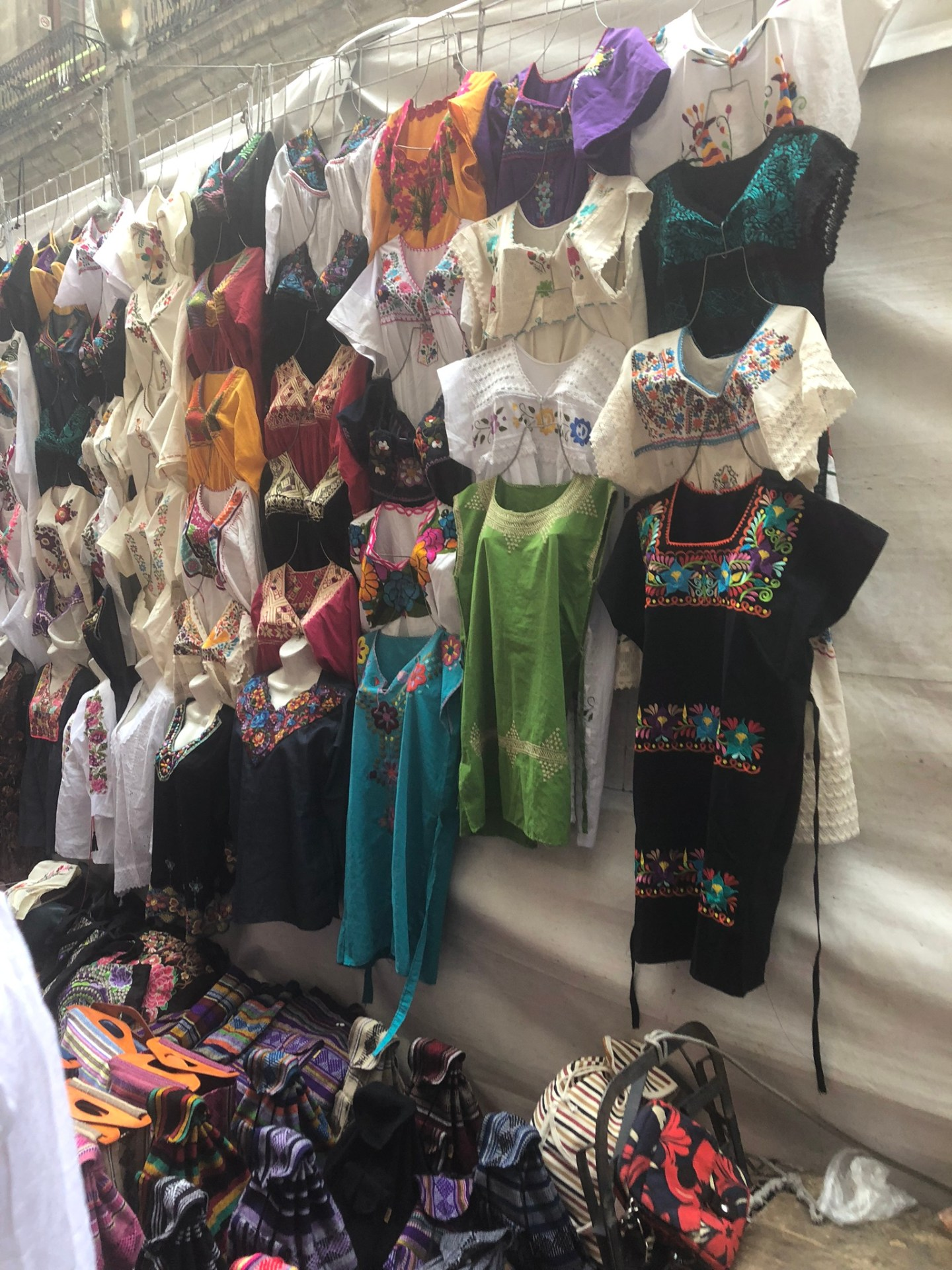Mayan clothing for sale in Mexico City