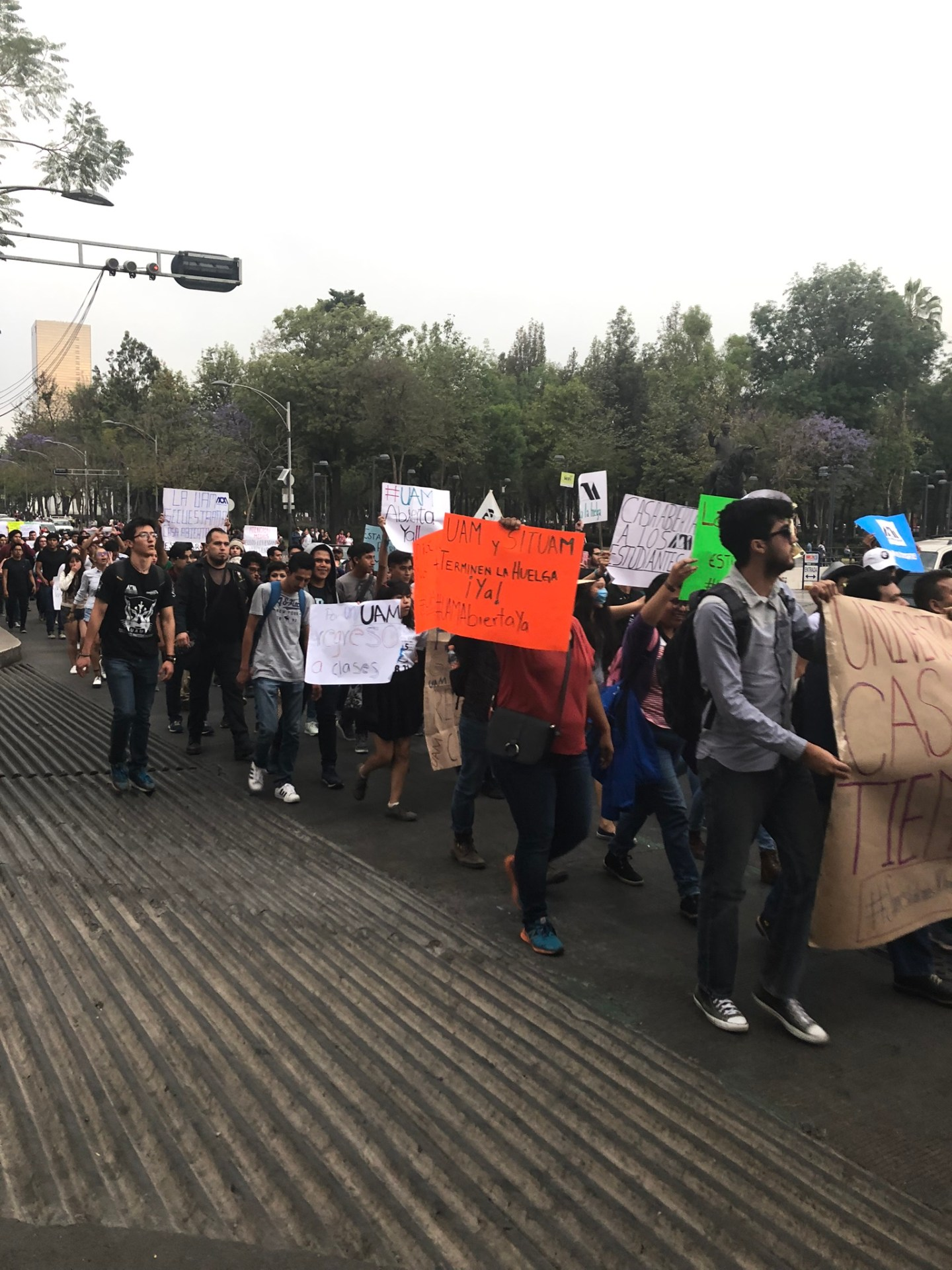 Protest on Reforma, Mexico City