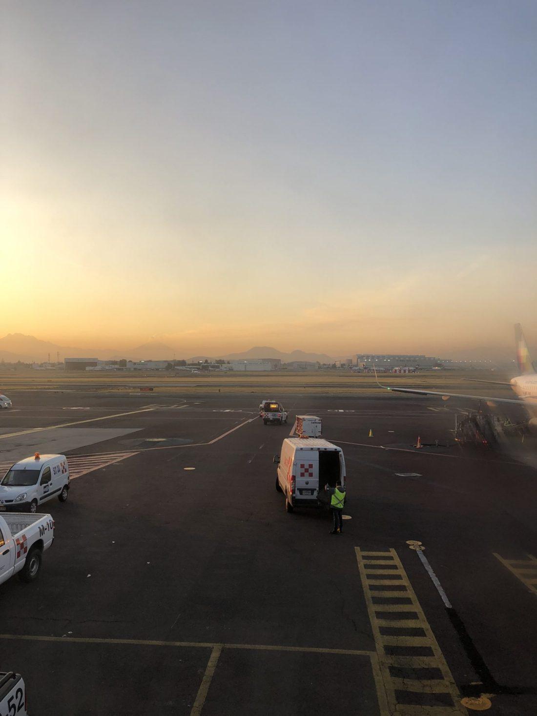 Dawn in Mexico City