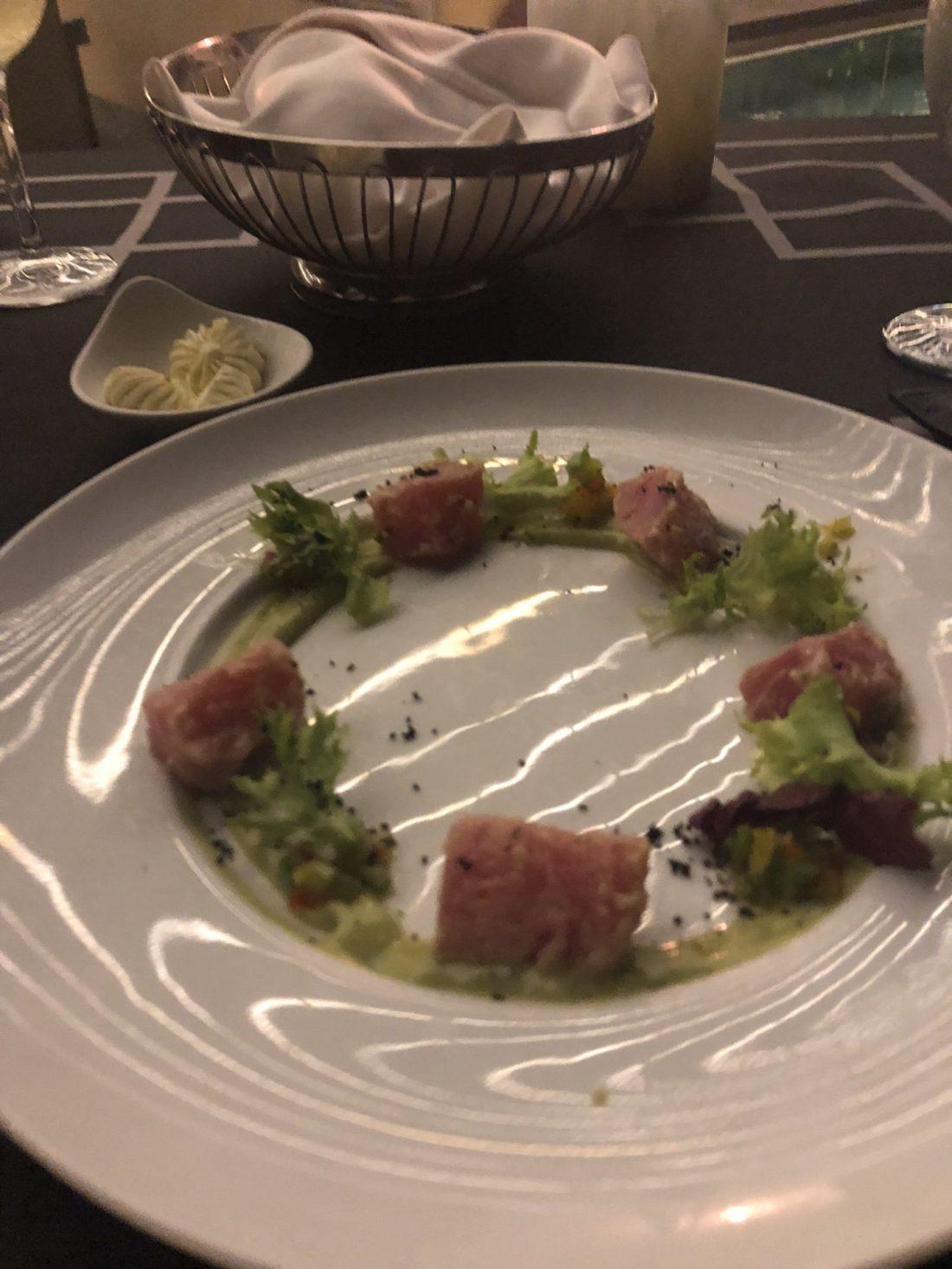 Tuna tartare at Blue Water Grill