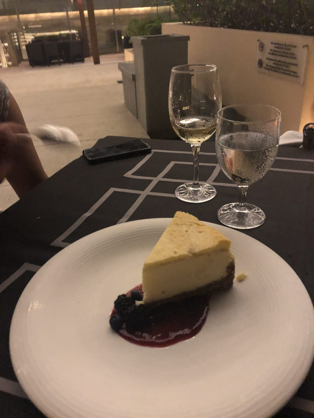 Cheesecake at Blue Water Grill, Cancun