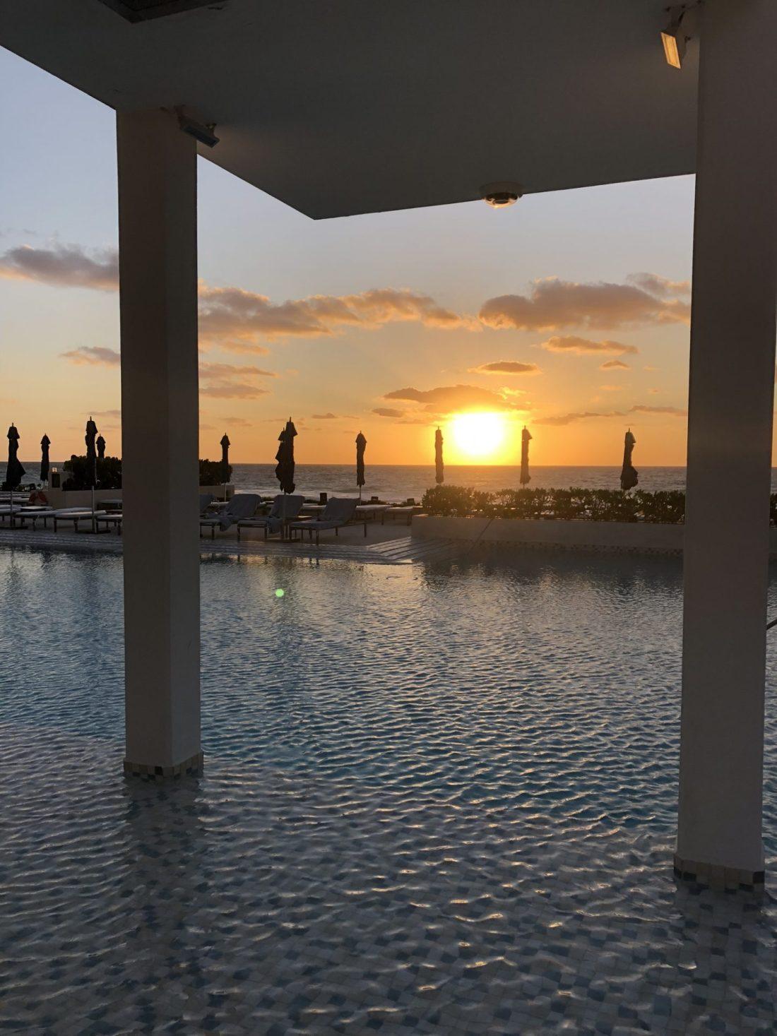 Sunrise at Secrets The Vine, Cancun