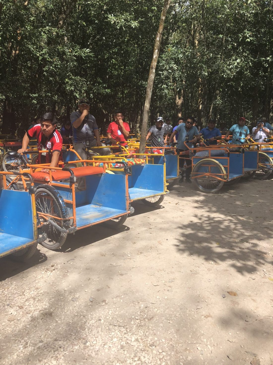 Tricycles in Coba, Mexico
