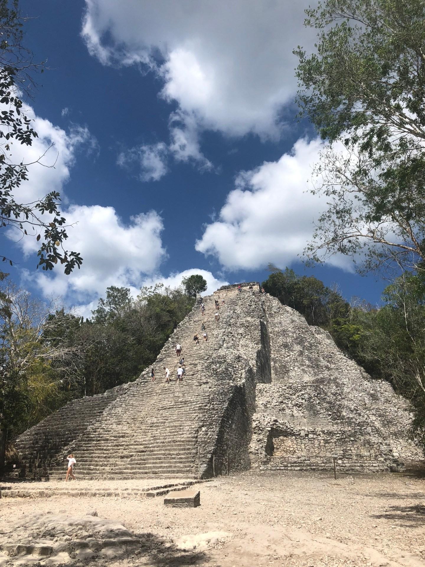 Pyramid at Coba, Mexico