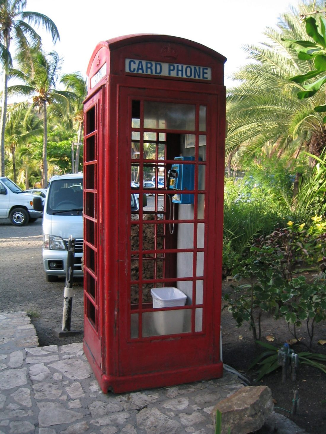London phone box in the Caribbean
