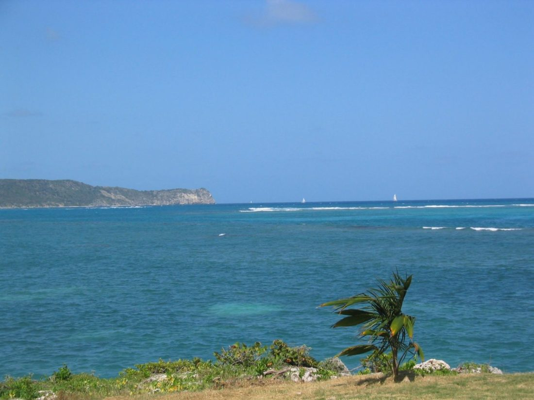 Views across Coco Beach, Antigua